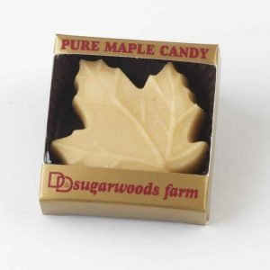 Maple Sugar Candy Large Leaf - (1) - D&D Sugarwoods Farm - Glover, Vermont