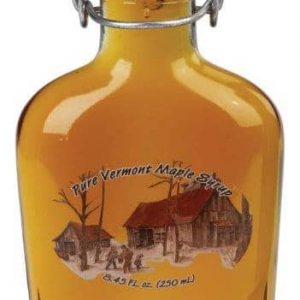 Vermont maple syrup in bail top flask glass bottle - D&D Sugarwoods Farm - Glover, Vermont