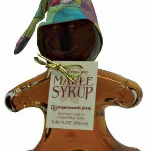 Vermont Maple Syrup in Ginger Bread Boy Glass Bottle - D&D Sugarwoods Farm - Glover, Vermont