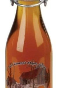 Vermont maple syrup in round bail top glass bottle - D&D Sugarwoods Farm - Glover, Vermont