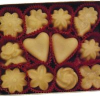 Vermont Maple Candy Flowers & Hearts - (12) - D&D Sugarwoods Farm - Glover, Vermont
