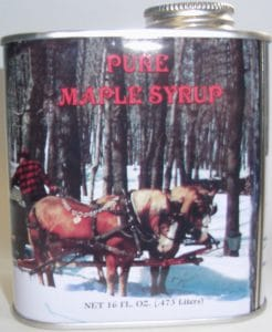 Vermont Maple Syrup Horse Sap Collecting Tin - D&D Sugarwoods Farm - Glover VT